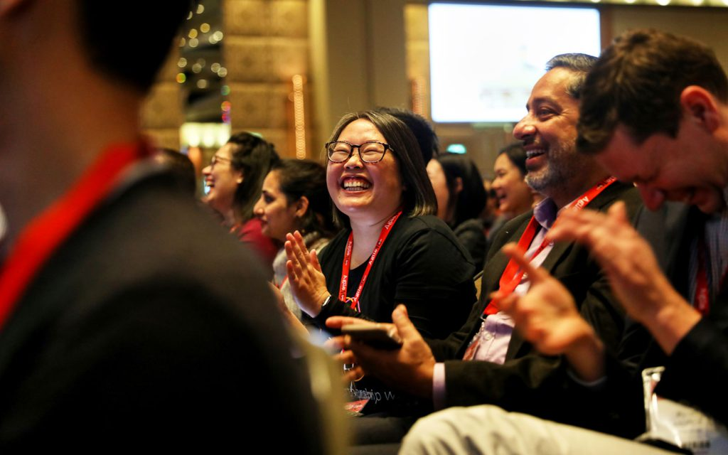 AgileAus18 Audience Laughing