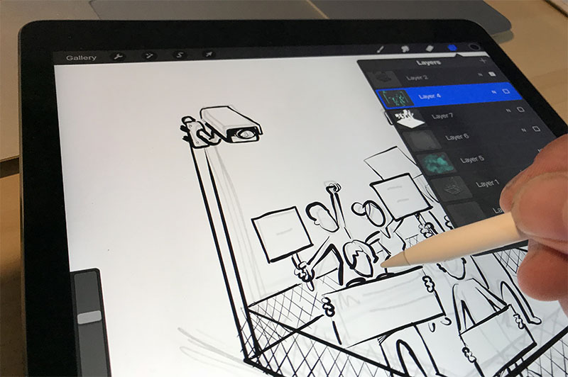 Do you know any university students with a passion for sketching?