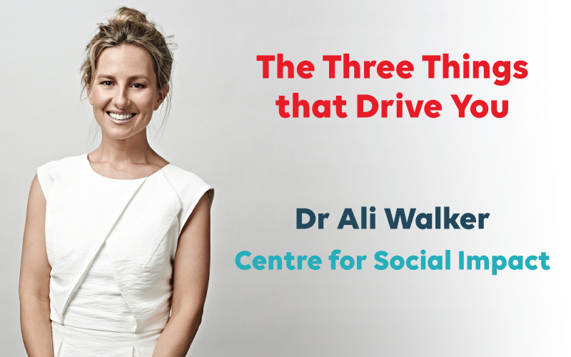 Ali Walker - 3 things that drive you